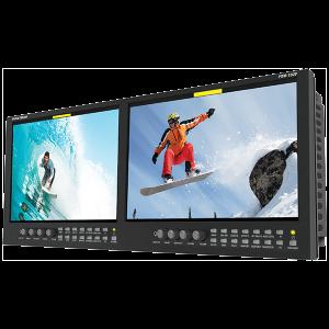 Postium 10″ 960×540 Multi-Format Dual LCD Rack Mount.
