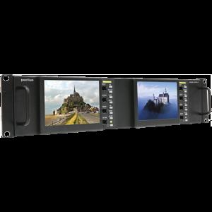 Postium 5″ 800×480 Multi-Format Dual LCD Rack Mount