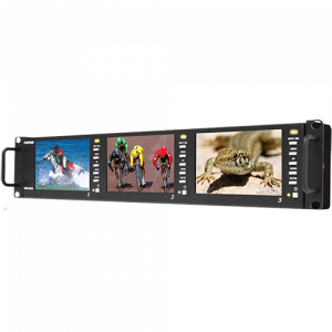 Postium 5″ 800×480 Multi-Format Triple LCD Rack Mount.