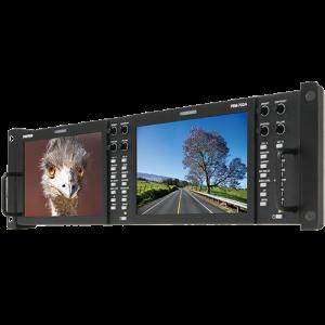Postium 7″ 800×480 Multi-Format Dual LCD Rack Mount.