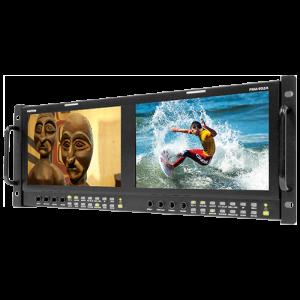 Postium 9″ 800×480 Multi-Format Dual LCD Rack Mount.