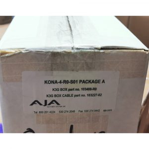 [Stock Clearance] AJA K3G-BOX with K3G-BOX Cable (KONA-4-R0-S01 Package A)